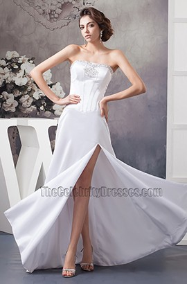 Sexy Strapless Floor Length Wedding Dress Bridal Gown