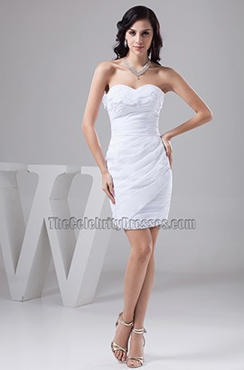 Sheath/Column Strapless Sweetheart Party Cocktail Dresses