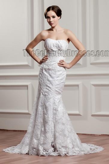 Sweep/Brush Train Strapless Beaded Bridal Gown Wedding Dresses
