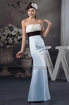 Simple Trumpet/Mermaid Strapless Floor Length Wedding Dress