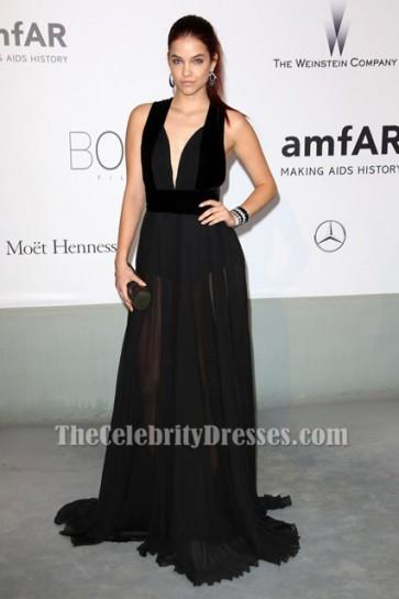 Barbara Palvin black Prom Night Gown Le 21ème Gala Cinema Against AIDS de l'amfAR