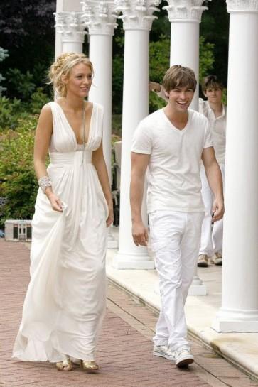 Blake Lively Long Evening Prom Bridesmaid Dresses Gossip Girl Fashion