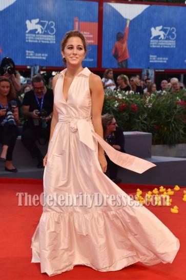 Blu Yoshimi Ivory Deep V Ball Gown 73rd Venice Film Festival 2
