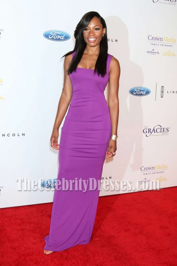 Cari Champion Long Evening Prom Gown 41st Annual Gracie Awards 3