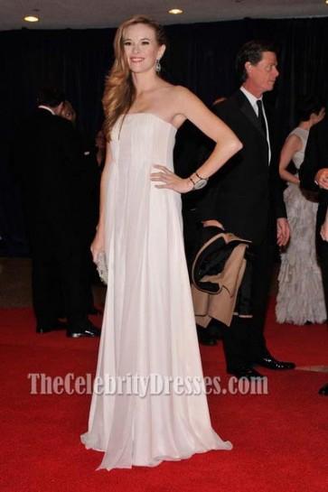 Danielle Panabaker White Evening Dress 7th Annual White House Correspondents' Association Dinner