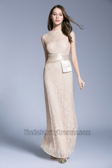 New Lace Sleeveless Evening Dress long Bride Bridesmaid Wedding Dress 2
