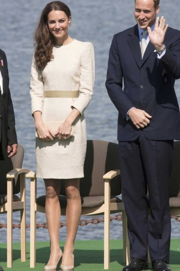 Kate Middleton Ivory Short Dress