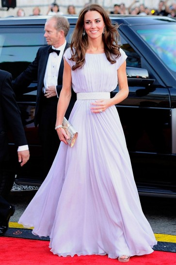 Kate Middleton Long Prom Dress Formal Gown BAFTA Brits event Red Carpet