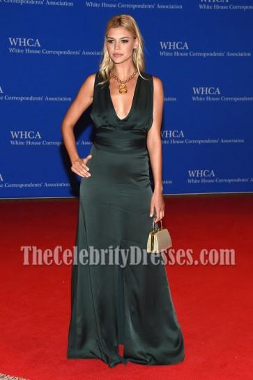 Kelly Rohrbach Deep V-neckline Slit Evening Prom Gown White House Correspondents' Association Dinner  4