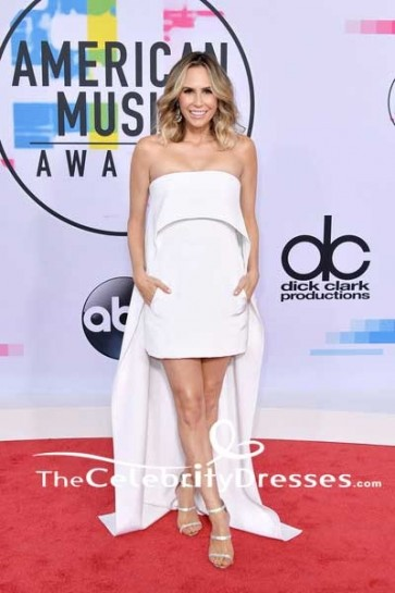 Keltie Knight White Strapless Mini Dress 2017 American Music Awards Red Carpet