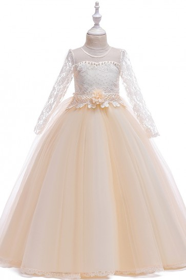 Lace Ball-Gown Junior Bridesmaid Dress