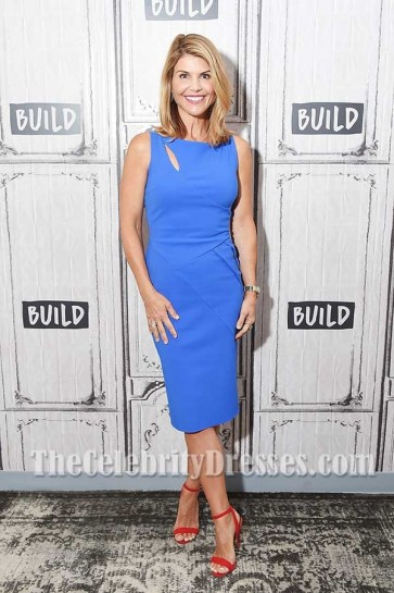 Lori Loughlin Blue Cut Out Sheath Party Dress In Show Fuller House