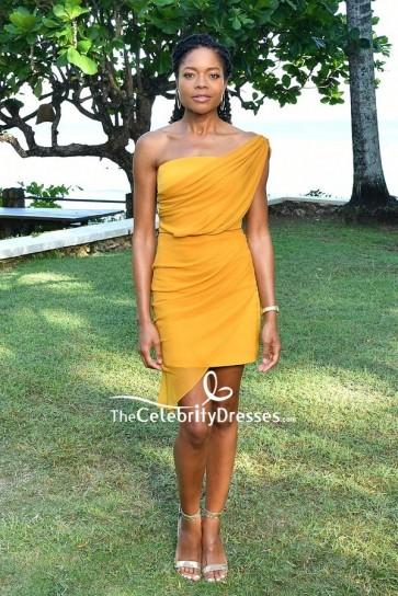 Naomie Harris One-shoulder Cocktail Dress  'Bond 25' Film Launch