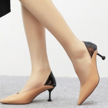 Pointed Toe Two-tone Pumps Heels For Women