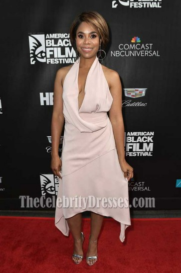 Regina Hall Halter V-neck A-Line High Low Dress American Black Film Festival