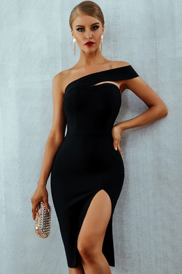 Sexy One-shoulder Party Bandage Dress