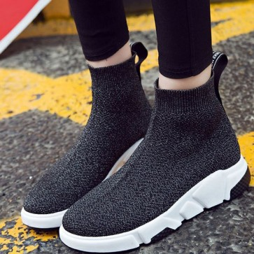 Wide Fit Sock Knit Sneakers