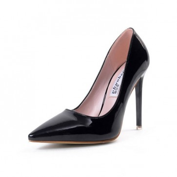Women's Black Pointed Toe Casual Stiletto Heels Party Shoes For Prom