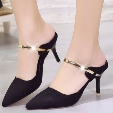 Women's Ankle Straps Stiletto Heels Pointed Toe Shoes For Prom
