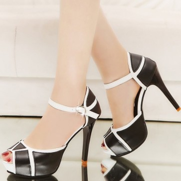 Women's Platform Stiletto Heels Peep-toe Sandals