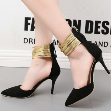 Women's Stiletto Heel Sandals Pumps Closed Toe For Wedding