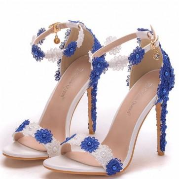 Women's Stiletto Heels Open-toe Shoes Edge Applique