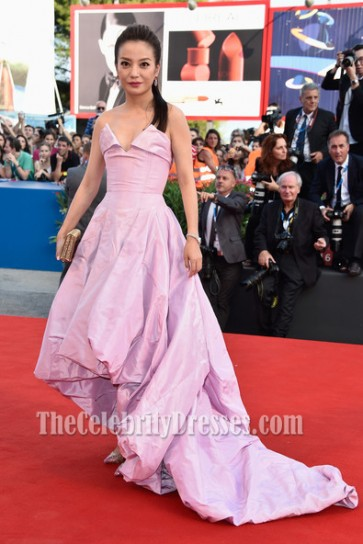 Zhao Wei High Low Formal Dress 71st Venice Film Festival Red Carpet
