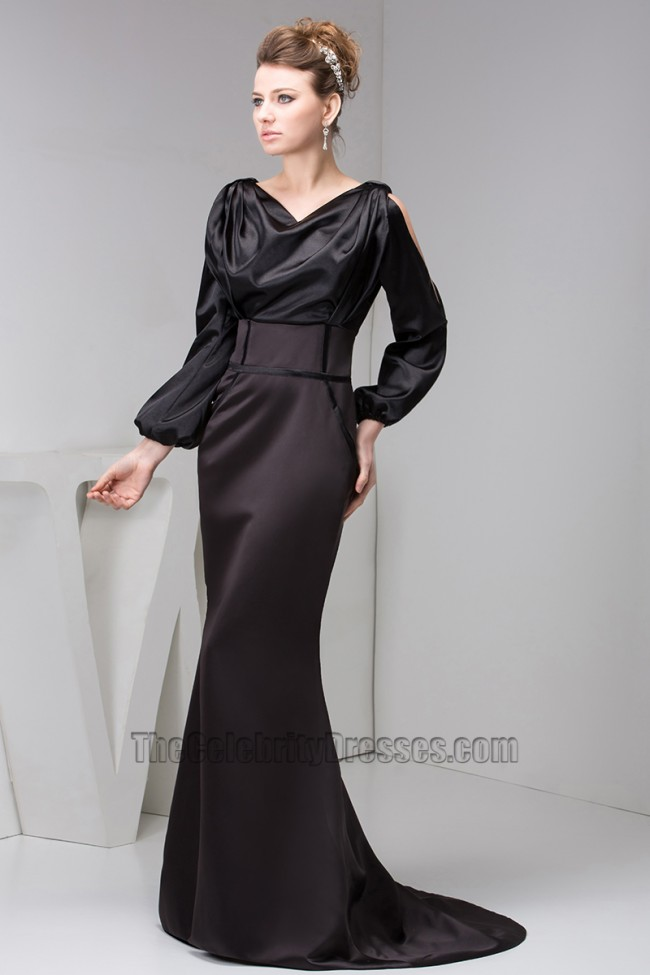 Women Long Sleeves Formal Gown Evening Dresses Thecelebritydresses