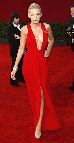 Blake Lively Sexy Red Evening Prom Dresses Emmy Awards 2009 Red ...