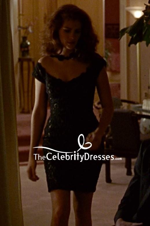 Julia Roberts Robe De Cocktail En Dentelle Noire Dans Le Film Jolie Femme Thecelebritydresses