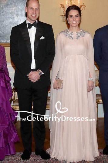 Kate Middleton En Mousseline De Soie Perl 233 E Plafonn 233 Robe