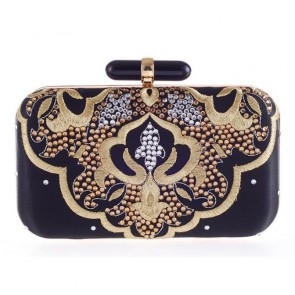 New Fashion Studded Clutch Bag Women Embroidery Evening Bag 6