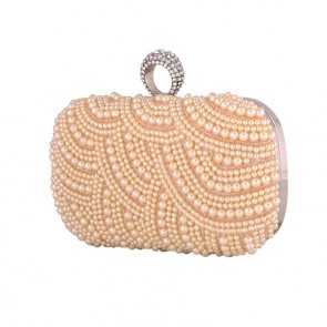 New Pearl Evening Bag Bride Clutch Women Party Mini Handbag TCDBG0100