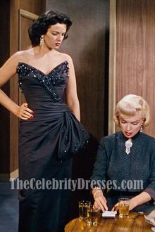 Jane Russell Strapless V-neck Prom Evening Dress in Gentlemen Prefer Blondes 2