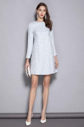 Long Sleeves A-line White Homecoming Dress With Sleeves
