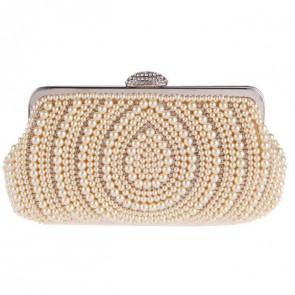 Women Fashion Pearl Evening Bag Elegant Clutch Party Handbag TCDBG0148