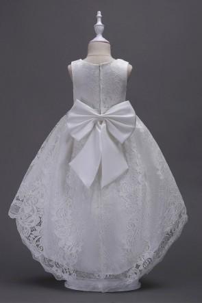 Princess Asymmetrical Flower Girl Dress