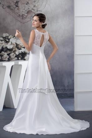 Celebrity Inspired Trumpet Mermaid Chapel Train Wedding Dresses