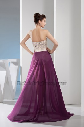 Sexy Strapless Sweetheart Prom Gown Evening Dress With Beading