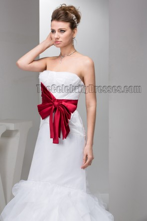 Celebrity Inspired Trumpet/Mermaid Strapless Floor Length Wedding Dress