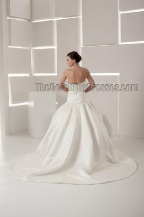 Chapel Train Strapless Sweetheart Ball Gown Wedding Dress