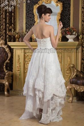 Chic Floor Length Strapless Sweetheart Beaded Wedding Dress