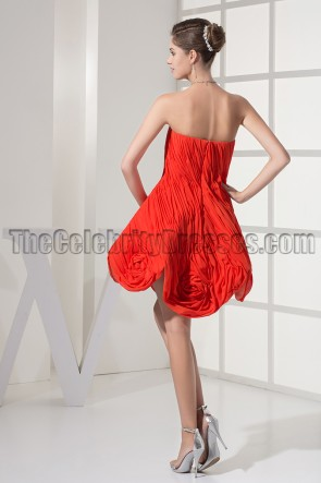 Chic Red Strapless A-Line Party Homecoming Dresses