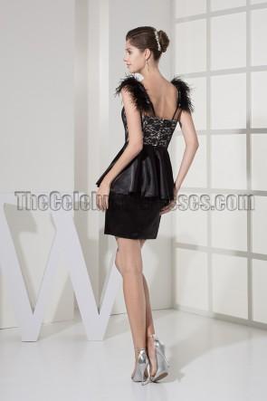 Chic Short Black Party Cocktail Graduation Dresses