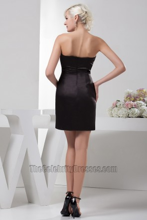 Chic Short Strapless White And Black Party Homecoming Dresses