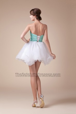 Cute Strapless Short Mini A-Line Party Sweet 16 Dresses