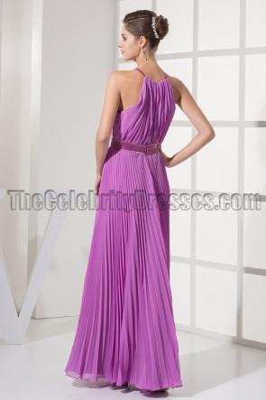 Discount Purple Chiffon Prom Gown Evening Dresses