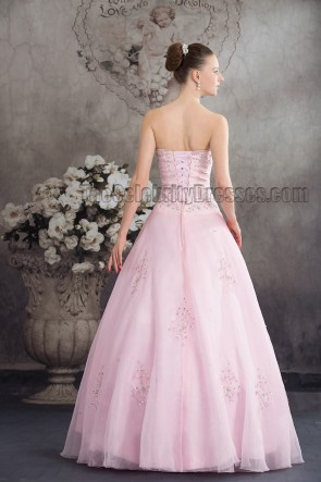Gorgeous Pink Strapless Sweetheart A-Line Quinceanera Dress