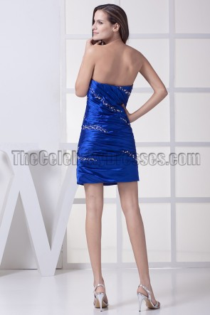 Royal Blue Beaded Party Homecoming Graduation Dresses