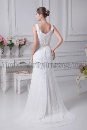 Elegant Lace Sheath/Column Wedding Dresses